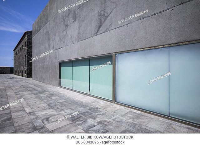 Portugal, Azores, Sao Miguel Island, Ribeira Grande, Arquipelago, contemporary art museum in renovated distillery, exterior
