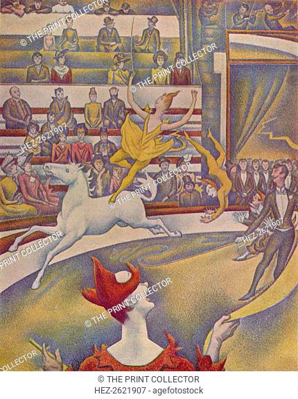 'The Circus (Le Cirque)', 1890-91. Painting housed in Musee d'Orsay, Paris. From The Studio Volume 127. [The Offices of the Studio, London & New York, 1944]