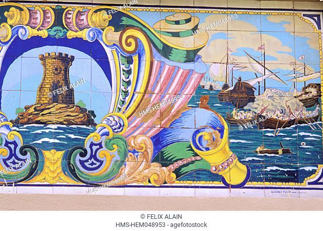 Spain, Murcia, Cartagena, azulejos
