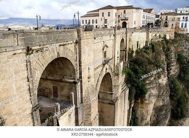 New bridge in Ronda, Málaga, Spain