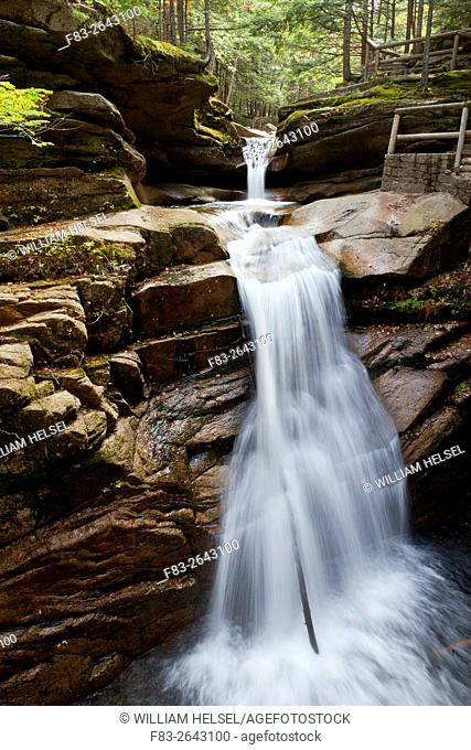 Sabbaday Falls, White Mountain National Forest, Grafton County, New Hampshire, USA