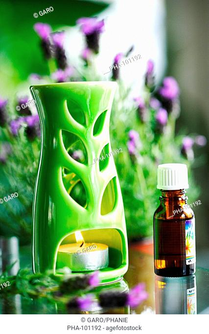 Lavender essential oil and diffuser