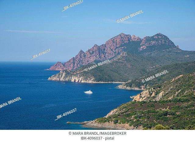 Headland on the west coast of Corsica, Gulf of Porto, Corsica, France