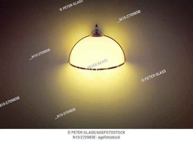Light fixture on a wall