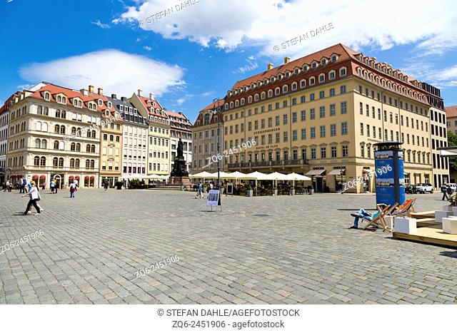 View over the Neumarkt in Dresden, Saxony, Germany