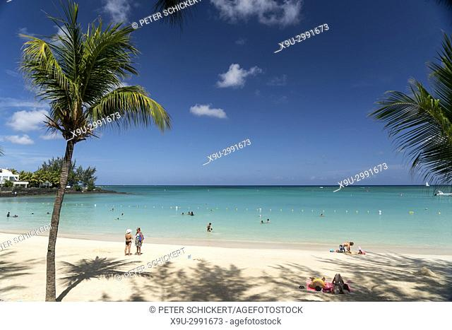 Pereybere public beach, Grand Baie, , Mauritius, Africa