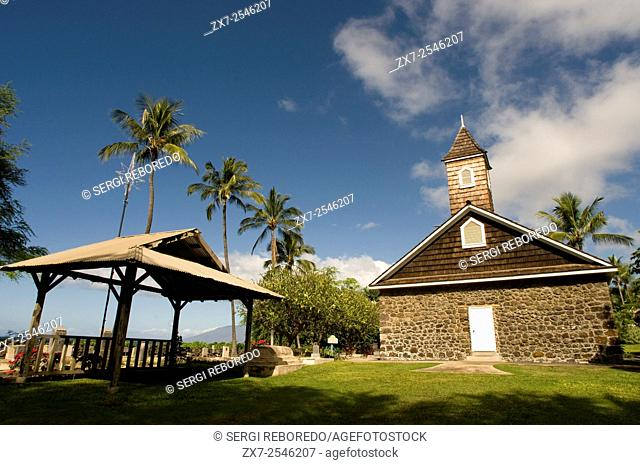 Kalaealaâ Congregational Church. Makena. Maui. Hawaii. Keawalai Congregational Church founded in 1832 on Hawaii island of Maui