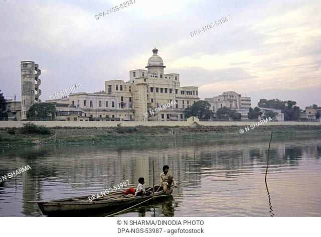 Chattar Manzil or Umbrella Palace at bank of Gomti river ; Lucknow ; Uttar Pradesh ; India