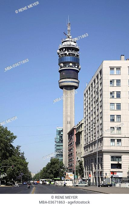 Chile, Santiago, Avenida Libertador General Bernardo O'Higgins, radio tower