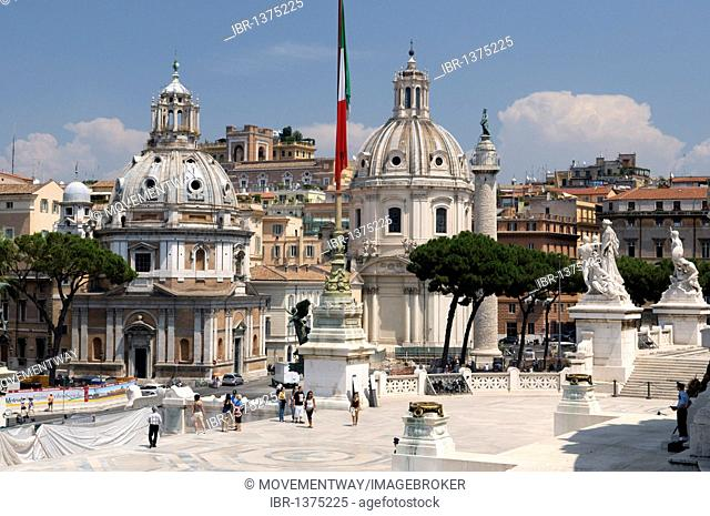 Church of Santa Maria Di Loreto and Church Santissimo Nome Di Maria, Church of the Most Holy Name of Mary, Rome, Italy, Europe