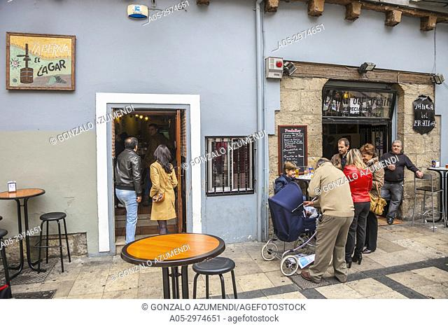 El Lagar de San Martin Bar, Valladolid, Castilla y Leon, Spain