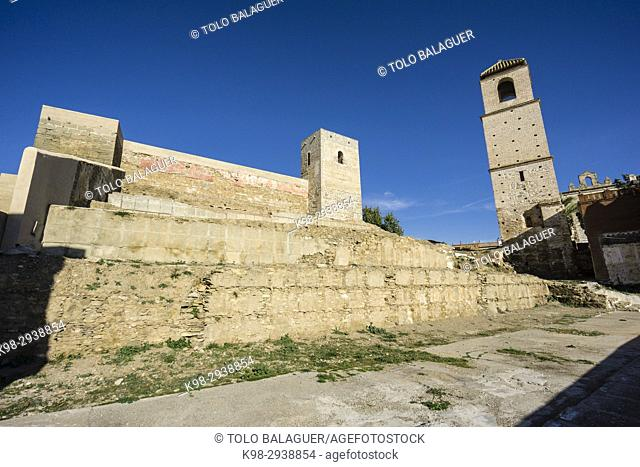 Alora Castle, recinto amurallado, siglo X, Cerro de Las Torres. monumento nacional, Álora, Malaga, Andalucia, Spain