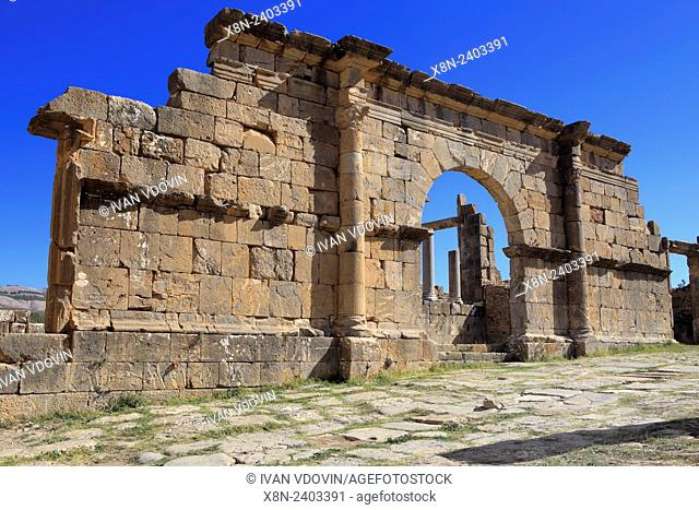 Ruins of ancient city Cuicul, Djemila, Setif Province, Algeria