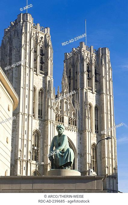 St Michael and Gudula Cathedral, Treurenberg hill, Brussels, Belgium / Cathedrale St Michel et Gudule, Gothic