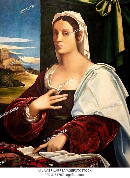 """""""Vittoria Colonna"""", 1520-1525, Sebastiano Luciani, dit """"Sebastiano del Piombo"""", National Museum of Catalan Art, Museu Nacional d Art de Catalunya, MNAC"