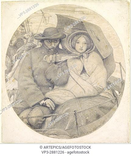 Ford Madox Brown - The Last of England - Cartoon - Birmingham Museum and Art Gallery