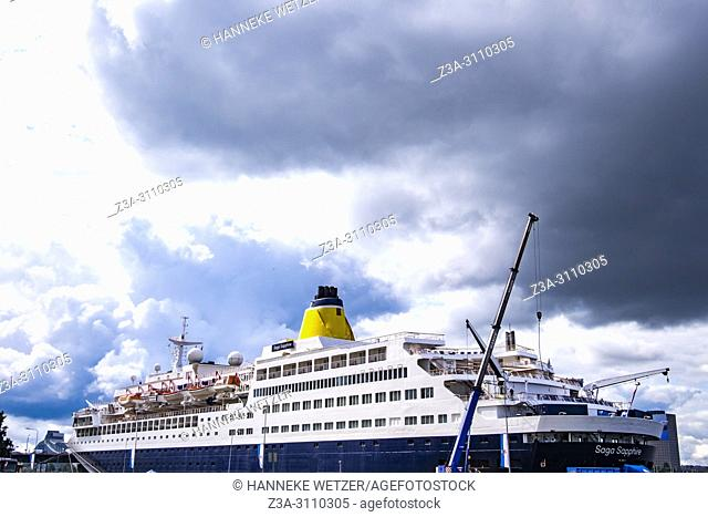 Cruiseship in Riga, Latvia, Baltic States
