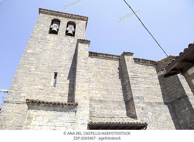 Church in Burgui village Roncal valley Navarre Spain