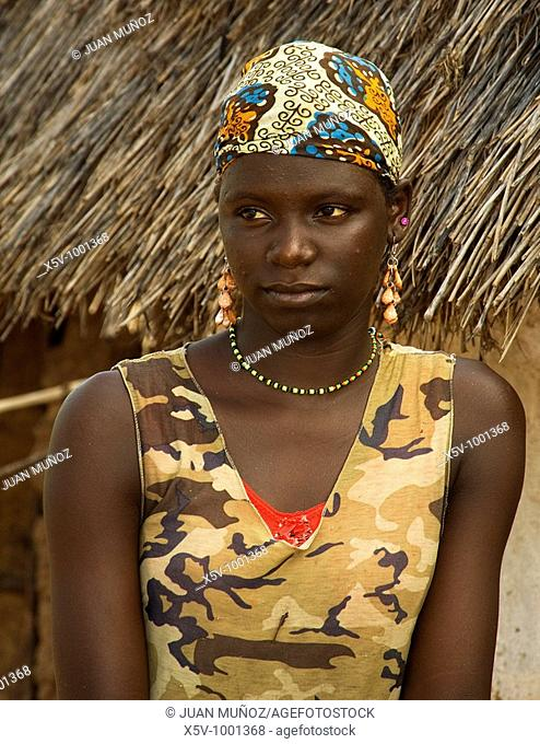 Young teenager in a village in the interior of the Gambia