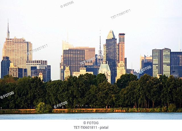 USA, New York State, New York City, Skyline, view from Central Park