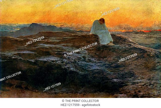 'Christ in the Wilderness', 1898, (1912). A colour print from Famous Paintings, with an introduction by Gilbert Chesterton, Cassell and Company, (London