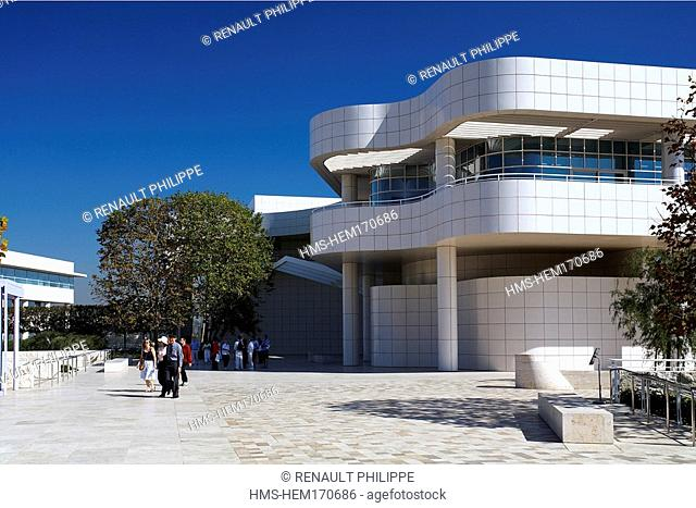 United States, California, Los Angeles, Getty Center, art museum designed by architect Richard Meier