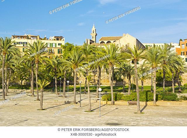 Parc de la Mar, Palma, Mallorca, Balearic islands, Spain