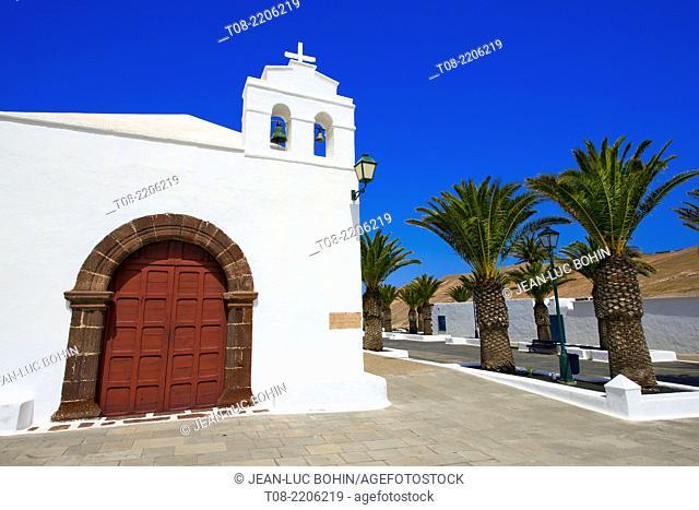canary islands,lanzarote, Femes village : church