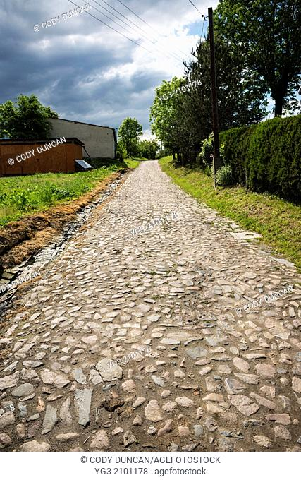 Old stone roadway, Scmicz - Schmitsch, Opole Voivodship, Poland