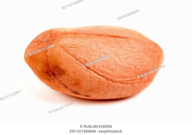 one raw peanut