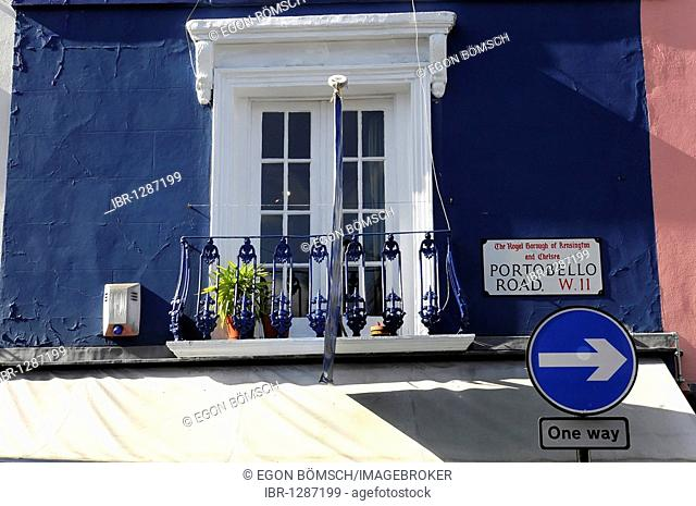 House front, Portobello Road, London, England, United Kingdom, Europe
