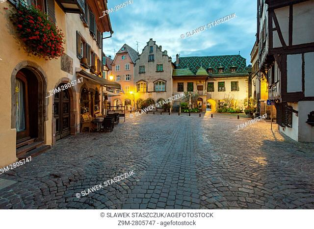 Dawn in Colmar old town, Alsace, France