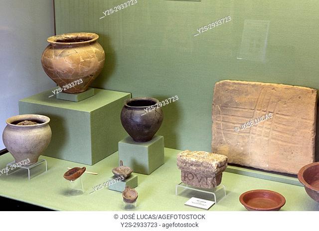 Provincial museum - roman incineration vessels, Lugo, Region of Galicia, Spain, Europe