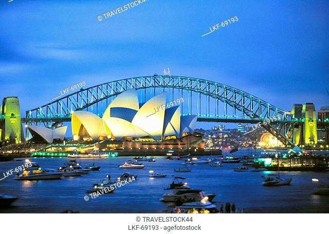 Australien, Sydney, Opera House, Harbour Bridge