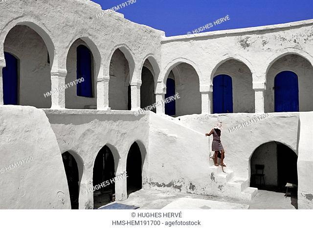Tunisia, Djerba, Houmt Souk, a foundouk or caravanserai