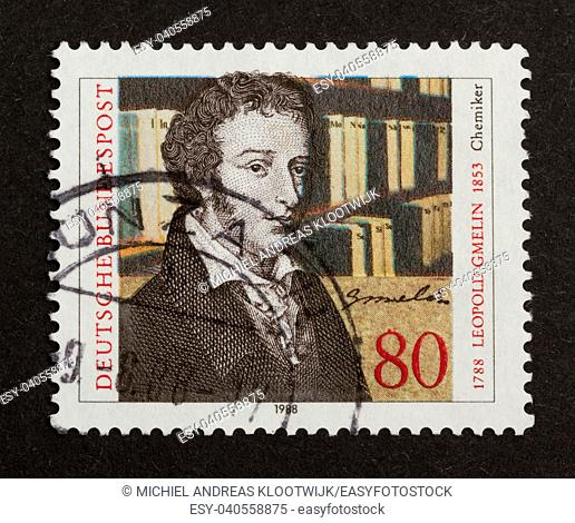 GERMANY - CIRCA 1980: Stamp printed in Germany shows Leopold Gmelin, circa 1980
