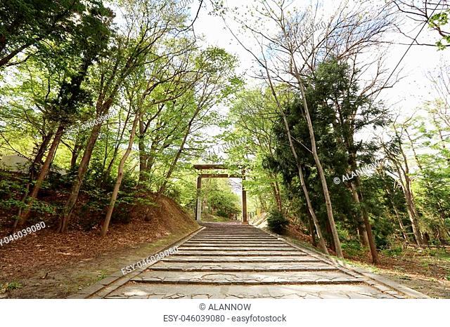the Hokkaido Shrine located in Sapporo city, Hokkaido