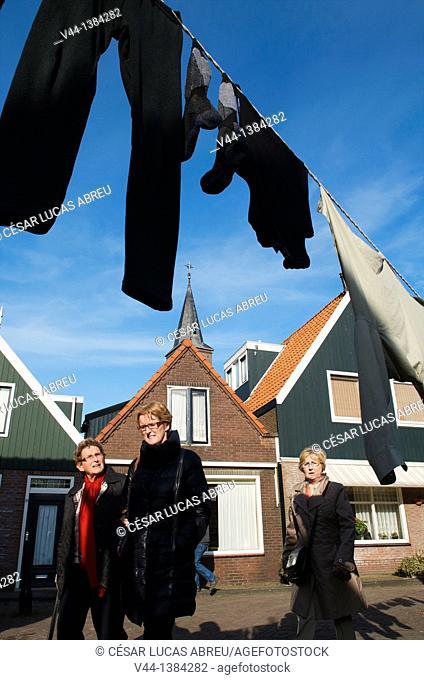 Doolhof street, Volendam, Netherlands