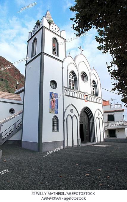 church Nossa Senhora de Rosario in the village Jardim do Mar, of island of Madeira, Portugal, Europe