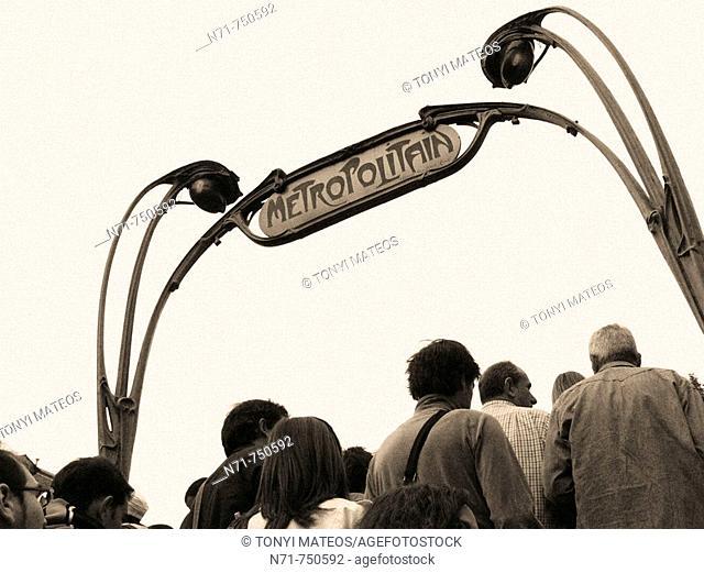 Subway sign, Paris, France