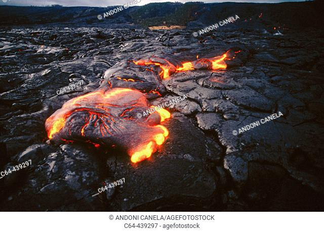 Lava. Kilauea Volcano. Hawaii Volcanoes National Park. Big Island. Hawai