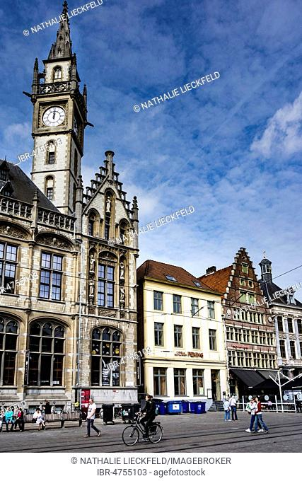 Old post office in the Old Town, Ghent, Belgium
