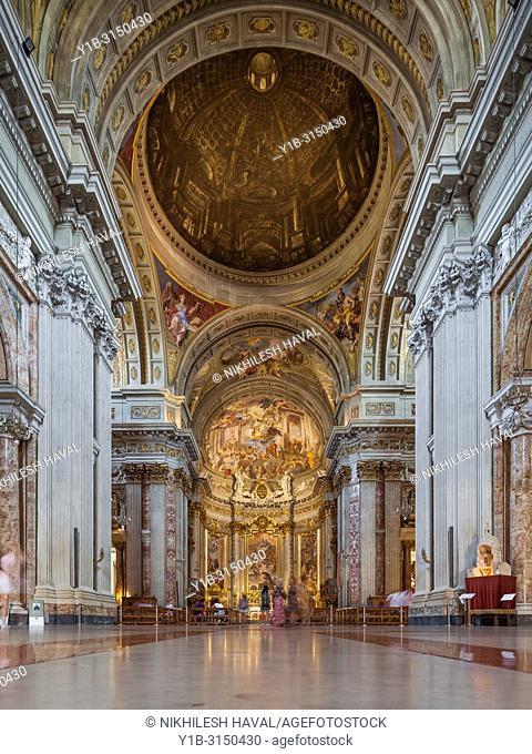 Fake Dome optical illusion, Chiesa di Sant'Ignazio di Loyola in Campo Marzio, Rome, Italy