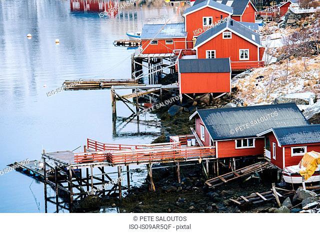 Fishing huts, Reine, Lofoten, Norway