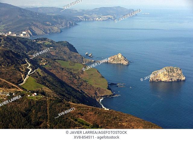 Aketxe Island, San Juan de Gaztelugatxe,  Bermeo, Biscay, Basque country, Spain