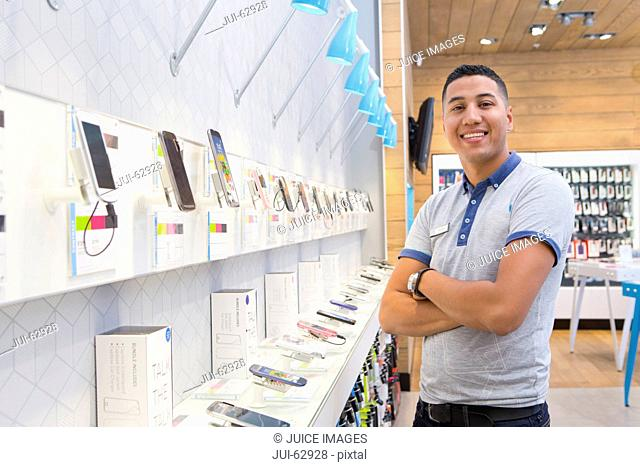 Store assistant in phone store