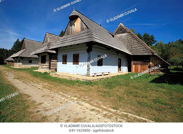 Traditional architecture displayed at the Open air Museum of Slovak Village in Martin, Slovakia