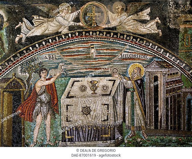 Mosaic angel sacrifice Stock Photos and Images | age fotostock