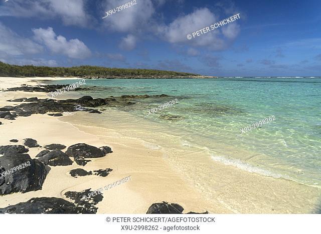 Beach Anse Ally near Saint Francois, Rodrigues island, Mauritius, Africa