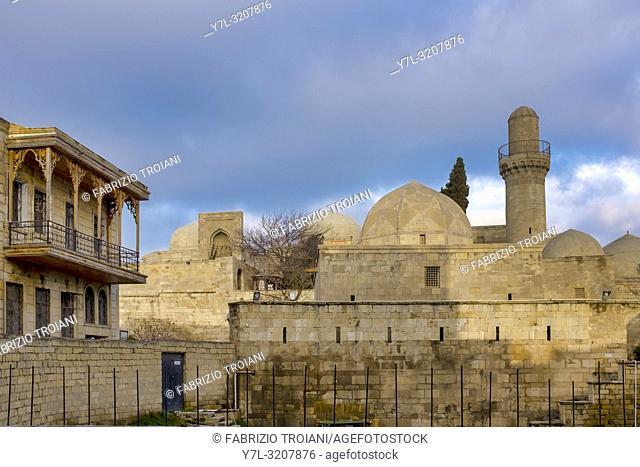 Rear view of the Palace of the Shirvanshahs, Baku, Azerbaijan